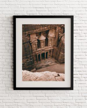 Petra treasure print - Jordania - Alvaro Valiente